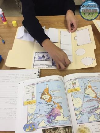 making their explorer lapbooks