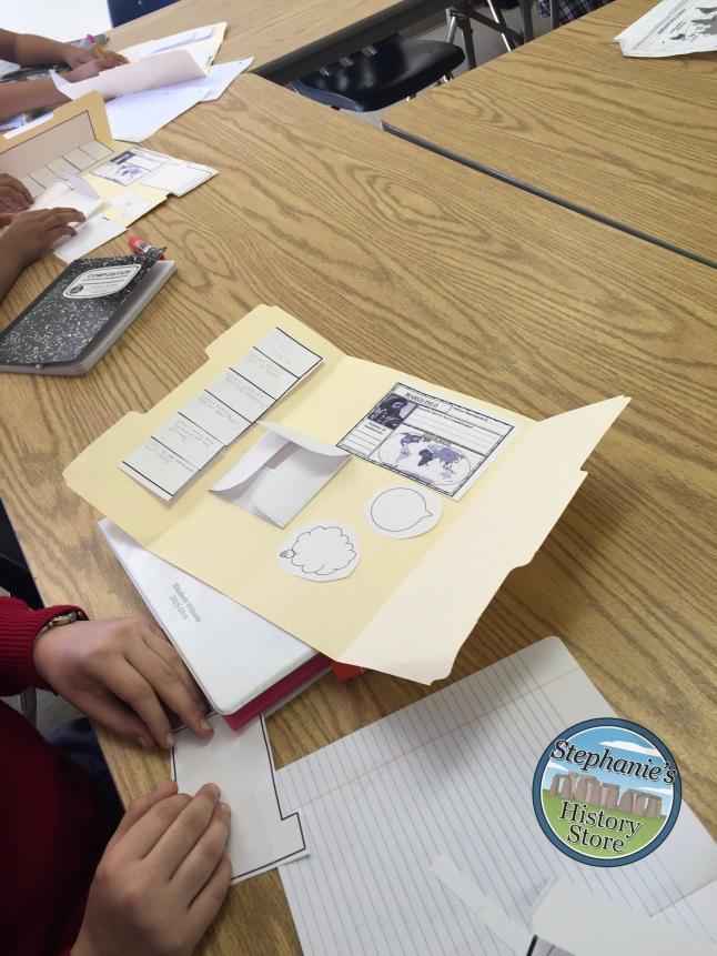 making their explorer lap books