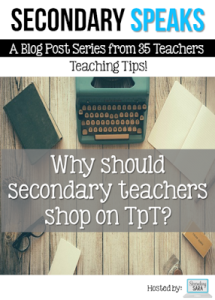 TpT and secondary teachers