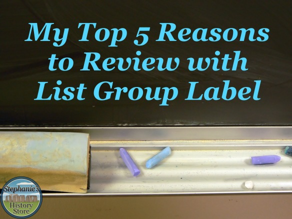 reviewing with List Group Label