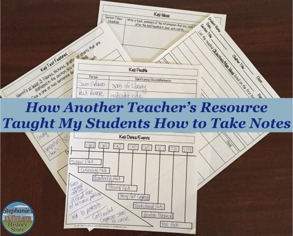help students learn how to take notes