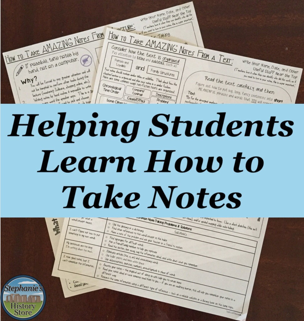 note taking resource