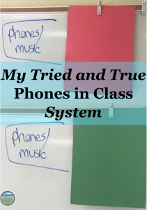 my method for managing high school kids' phones in class