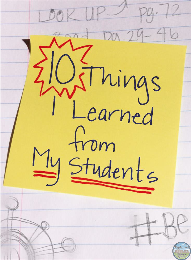 lessons teachers have learned from their students