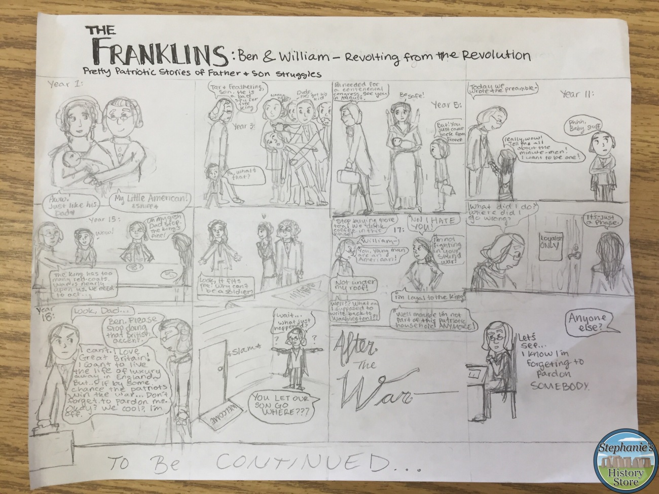 creating historical fiction out of comic strips