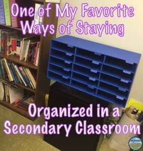 my favorite way of keeping my classroom handouts organized
