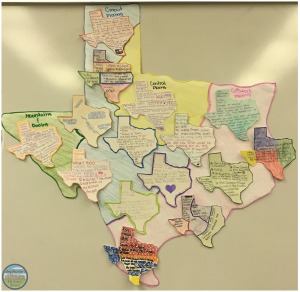 Texas exploration bulletin board made by students