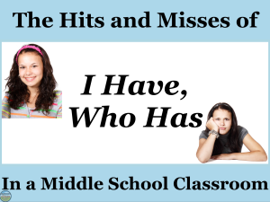 the hits and misses of the review game I have who has in social studies