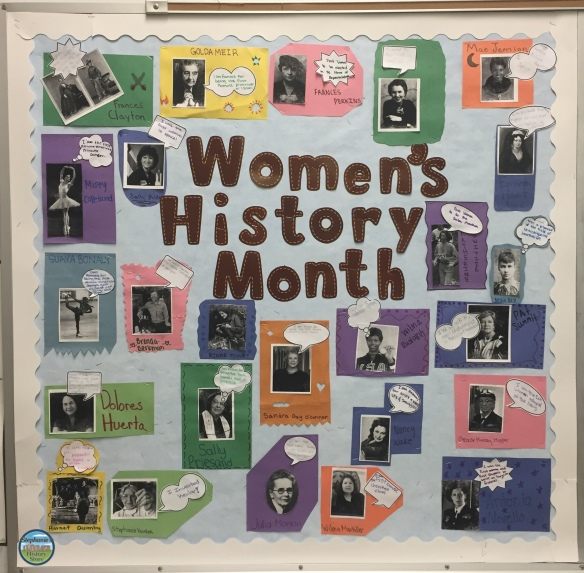 Women's History Month bulletin board (middle school)
