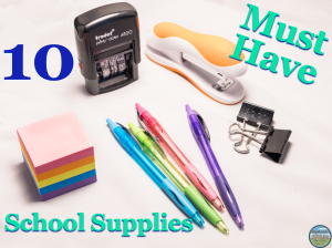 10 must have school supplies for secondary teachers