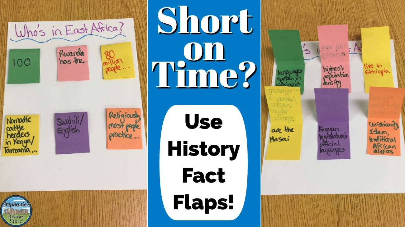 social studies fact flaps project