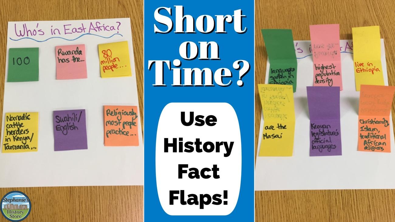 social studies fact flaps project