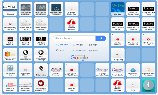 Symbaloo for the Gilded Age