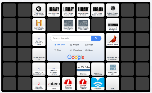 Symbaloo for the Roaring 20s