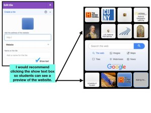 the final steps in creating your Symbaloo